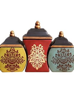 https://ineedaclean.com Ceramic Kitchen Storage Jar with Boho Style Pattern New Arrivals Kitchen Tools cb5feb1b7314637725a2e7: Blue|Red|Yellow  I Need A Clean https://ineedaclean.com/?post_type=product&p=1003020